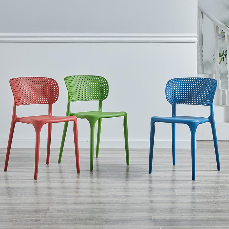 北欧家用塑料餐椅子简约休闲靠背椅子时尚塑胶书桌洽谈椅户外凳子-november 主题